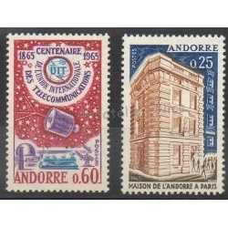 French Andorra - 1965 - Nb 173/174