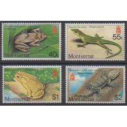 Montserrat - 1980 - Nb 414/417 - Reptils