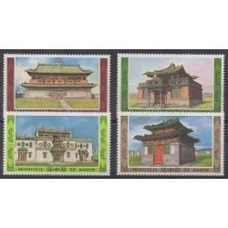 Mongolia - 1986 - Nb 1447/1450 - Architecture