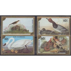 Mongolia - 1986 - Nb 1459/1462 - Birds