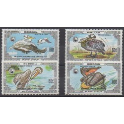 Mongolia - 1986 - Nb 1481/1484 - Birds - Endangered species - WWF