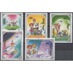Mongolie - 1991 - No 1826/1830 - Dessins Animés - BD
