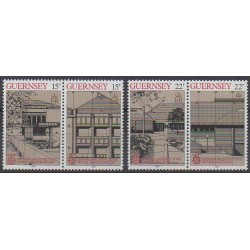 Guernesey - 1987 - No 391/394 - Architecture - Europa