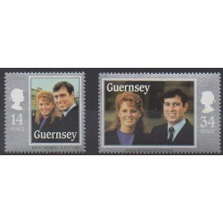 Guernsey - 1986 - Nb 369/370 - Royalty