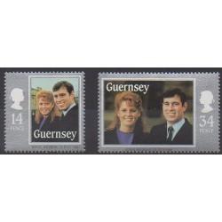 Guernesey - 1986 - No 369/370 - Royauté - Principauté