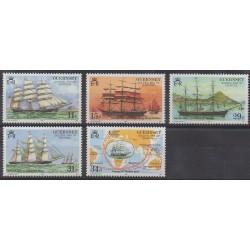 Guernsey - 1988 - Nb 412/416 - Boats