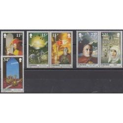 Guernsey - 1987 - Nb 401/406 - Various Historics Themes
