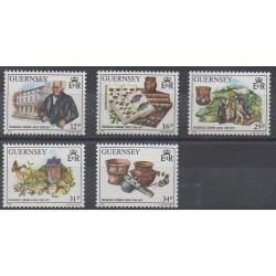 Guernesey - 1988 - No 423/427 - Célébrités