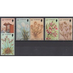 Guernsey - 1988 - Nb 432/437 - Flowers