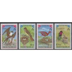 Montserrat - 1988 - No 669/672 - Oiseaux