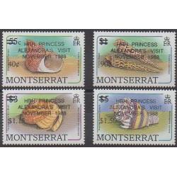 Montserrat - 1988 - No 693/696 - Animaux marins - Royauté - Principauté