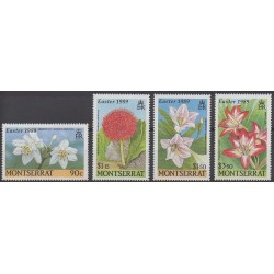 Montserrat - 1989 - Nb 705/708 - Flowers