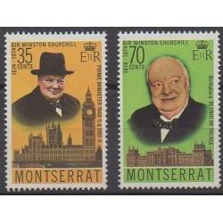 Montserrat - 1974 - Nb 318/319 - Celebrities