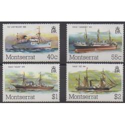 Montserrat - 1980 - Nb 425/428 - Boats - Postal Service