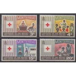Montserrat - 1970 - No 227/230 - Santé ou Croix-Rouge