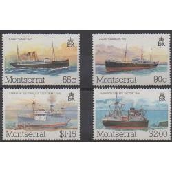 Montserrat - 1984 - Nb 550/553 - Boats - Postal Service