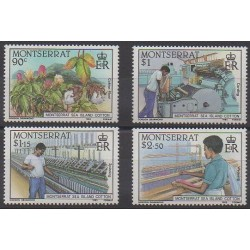 Montserrat - 1985 - Nb 577/580 - Craft