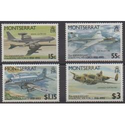Montserrat - 1993 - No 814/817 - Aviation - Histoire militaire