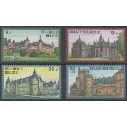 Belgique - 1987 - No 2265/2268 - Châteaux