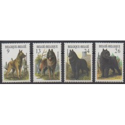 Belgique - 1986 - No 2213/2216 - Chiens