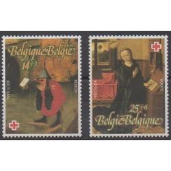 Belgique - 1990 - No 2398/2399 - Santé ou Croix-Rouge