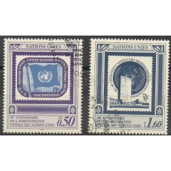 United Nations (UN - Geneva) - 1991- Nb 214/215 - Stamps on stamps - Used