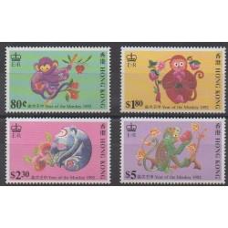 Hong-Kong - 1992 - No 670/673 - Horoscope
