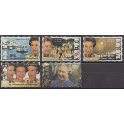 Hong-Kong - 1992 - No 674/678 - Royauté - Principauté