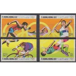 Hong-Kong - 1992 - No 679/682 - Jeux Olympiques d'été