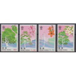 Hong-Kong - 1988 - No 532/535 - Arbres