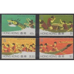 Hong-Kong - 1985 - No 437/440 - Sports divers