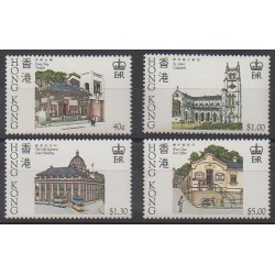 Hong-Kong - 1985 - No 433/436 - Monuments