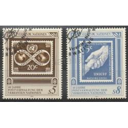Nations Unies (ONU - Vienne) - 1991- No 129/130 - Timbres sur timbres - Oblitéré