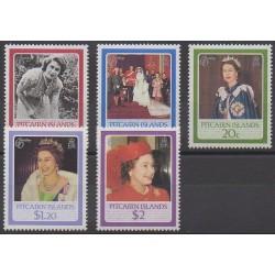 Pitcairn - 1986 - No 268/272 - Royauté - Principauté