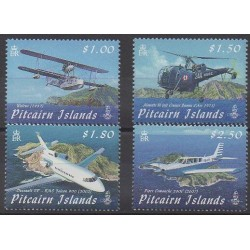 Pitcairn - 2009 - Nb 721/724 - Planes - Helicopters