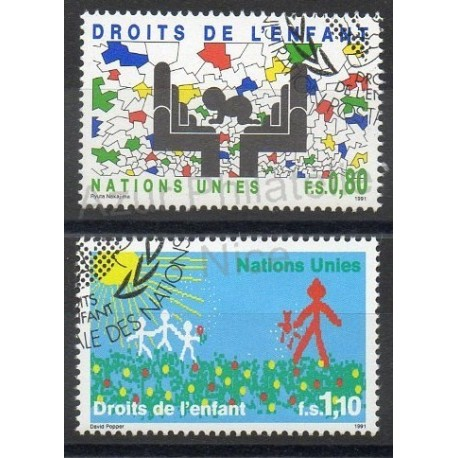 United Nations (UN - Geneva) - 1991- Nb 210/211 - Childhood - Used