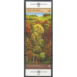 Nations Unies (ONU - Vienne) - 1988- No 81/82 - Arbres - Oblitéré