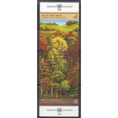 United Nations (UN - Vienna) - 1988- Nb 81/82 - trees - Used