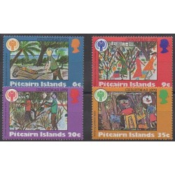 Pitcairn - 1979 - No 185/188 - Noël - Enfance - Dessins d'enfants