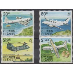 Pitcairn - 1989 - Nb 329/332 - Planes - Helicopters