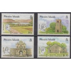 Pitcairn - 1990 - Nb 343/346 - Monuments - Philately