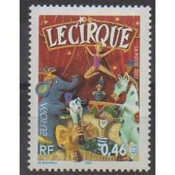 France - Poste - 2002 - Nb 3466 - Circus - Europa