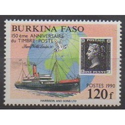 Burkina Faso - 1990 - Nb 817 - Stamps on stamps - Philately