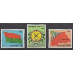 Burkina Faso - 1985 - No PA278/PA280 - Drapeaux