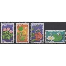Bénin - 1979 - No 444/447 - Fleurs