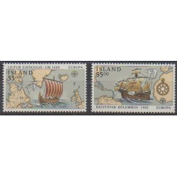 Iceland - 1992 - Nb 715/716 - Christophe Colomb - Europa