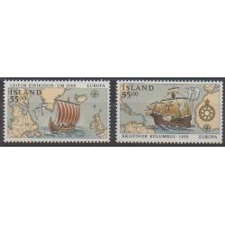 Islande - 1992 - No 715/716 - Christophe Colomb - Europa
