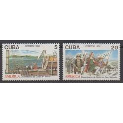 Cuba - 1992 - No 3203/3204 - Christophe Colomb - Service postal