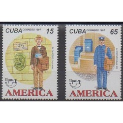 Cuba - 1997 - Nb 3673/3674 - Postal Service