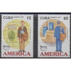 Cuba - 1997 - No 3673/3674 - Service postal